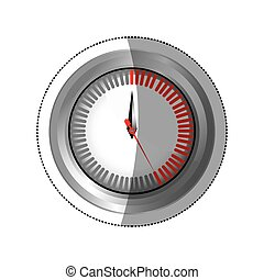 sticker silver screen timer counter