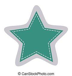 sticker star shape frame callout dialogue vector...