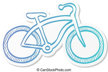 Sticker style icon - Low rider bicycle - Low rider bicycle ...