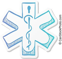 Sticker style icon - Medical symbol