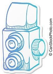 Sticker style icon - TLR camera - Twin lens reflex camera ...