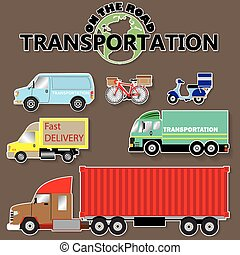 transportation icons by road