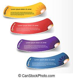 sticker., vecteur, ensemble, coloré