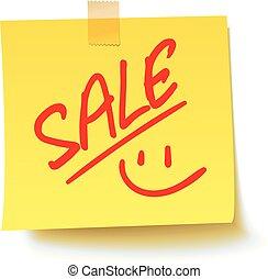 sticker., vektor, prodej, ilustrace, realistický