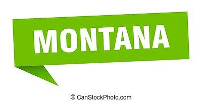 sticker., verde, indicador, poste indicador, montana, señal