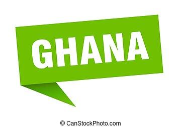 sticker., verde, indicador, señal, poste indicador, ghana