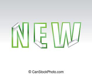"""sticker., vettore, \""""new\"""", segno"""