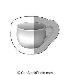sticker white cup icon