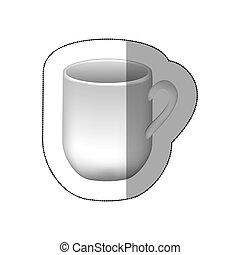 sticker white cuppa icon