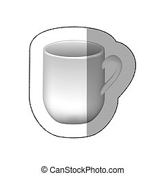 sticker white cuppa icon