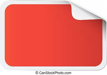 sticker, wit rood