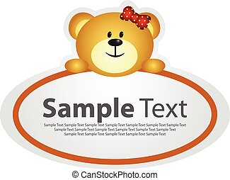 Sticker with animal design - bear