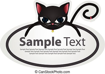 Sticker with animal design - cat