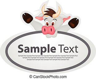 Sticker with animal design - cow
