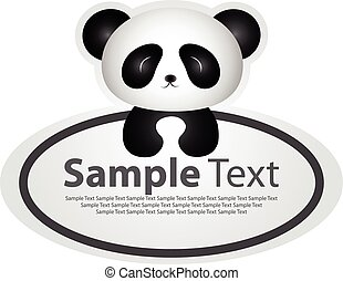 Sticker with animal design - panda