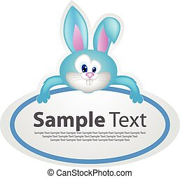 Sticker with animal design - rabbit