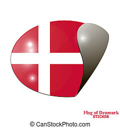 Sticker with flag of Denmark.