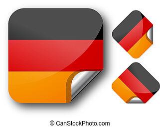 Sticker with German flag