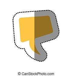 sticker yellow square dialog box design