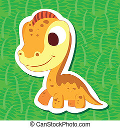 sticker04, cute, dinossauro