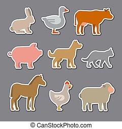 stickers, dieren, huiselijk