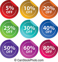 Stickers for discount offers