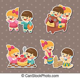 stickers, geitje