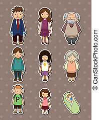 stickers, gezin
