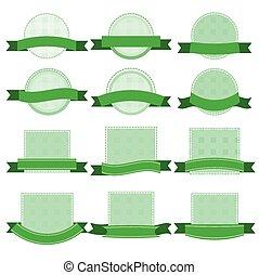 stickers, grønne