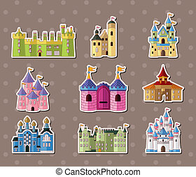 stickers, kasteel