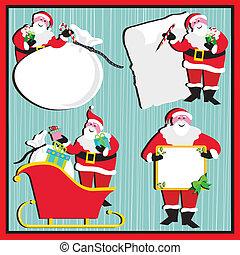 stickers, kerstman, markeringen