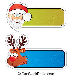 stickers, kerstmis