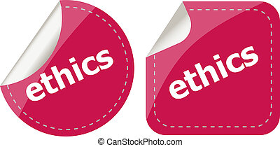 stickers label set business tag with ethics word