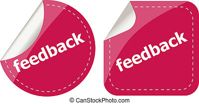 stickers label set business tag with feedback word