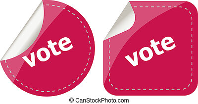 stickers label set business tag with vote word