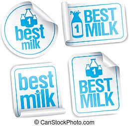 stickers., lait, mieux