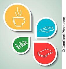 stickers, morgen