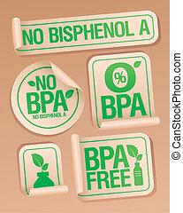 stickers., produits, gratuite, bisphenol