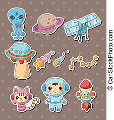 stickers, ruimte