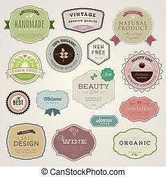 stickers, set, etiketten