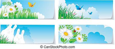 Stickers set nature