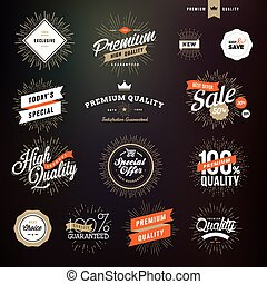 stickers, set, premie, kentekens, kwaliteit