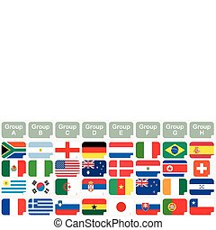 stickers with 2010 FIFA World Cup South Africa national flags