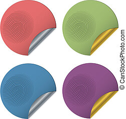 Stickers with a fingerprint