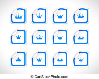 Stickers with icons. Vector.