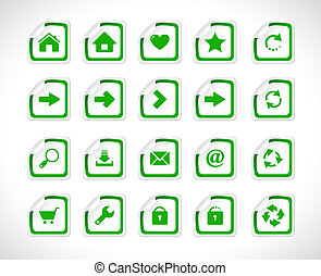 Stickers with web icons. Vector.