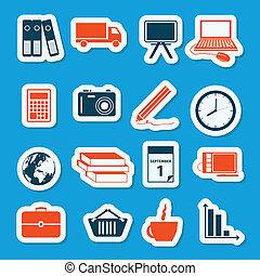 stickers, zakelijk
