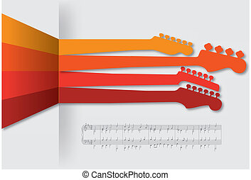 Sticking necks out music background for Print or Web