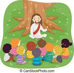 stickman, bibel, jesus, kinder, storytelling