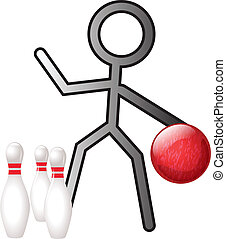 stickman bowling